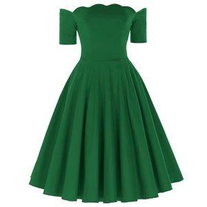 Green Retro Pinup Dress